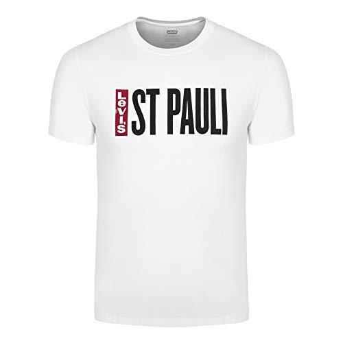 Levi's Herren T-Shirt St Pauli weiß, Größe:M