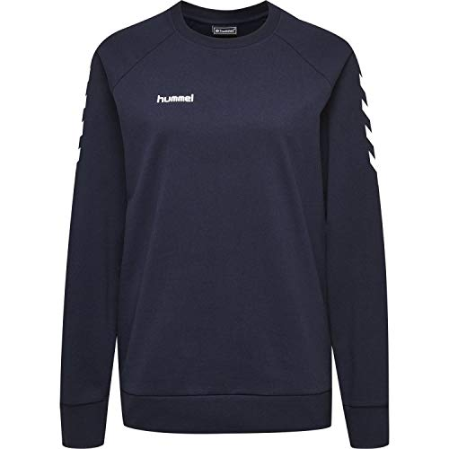 Hummel Damen Pullover Go Cotton Sweatshirt Woman 203507 Marine M