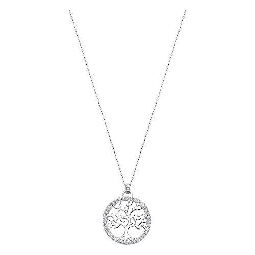 Lotus Silver JLP1746-1-1 - Collar con colgante de árbol de la vida, circonita cúbica, plata 925