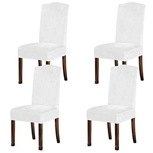 Fodere per sedia KELUINA in velluto peluche per sedie da sala da pranzo, coprisedili elasticizzati,...