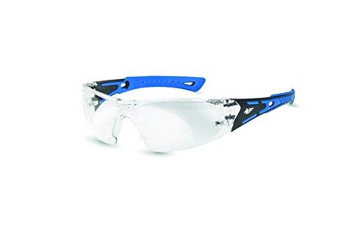 PEGASO 103.01-Gafas Proteccion Gama Anti-Impact Modelo Black&White Lente PC Incolora Antivaho, Azul Y Negro, L