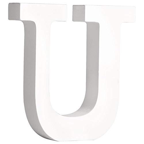 """Rayher 62672000 MDF- Buchstabe """"U"""", weiß, 11 cm, Stärke 2 cm"""