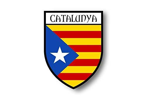 Akachafactory Aufkleber Sticker autoaufkleber Wappen Schild Flagge flaggen Fahne katalonien