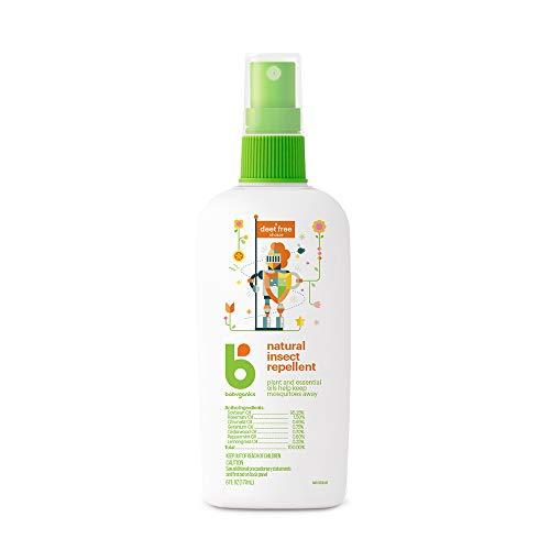 Babyganics Repelente de Mosquitos y otros Insectos para Bebé, Spray, Libre de DEET, 177 ml