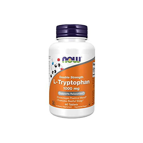 NOW Supplements, L-Tryptophan 1,000 mg, Double...