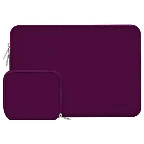 MOSISO Laptop Sleeve Kompatibel mit 13-13,3 Zoll MacBook Pro, MacBook Air, Notebook Computer, Wasserabweisend Neopren Tasche mit Klein Fall, Magenta Lila