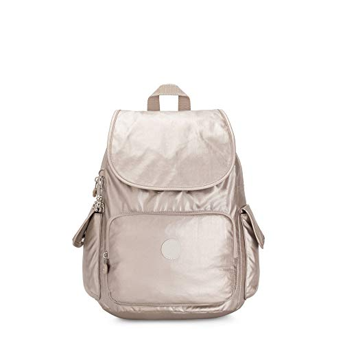 Kipling City Pack Solid Rucksack, Metallic Glow (Gold) - BP4351
