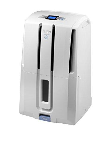 De'Longhi DD30P Deshumidificador, 540 W, Acero Inoxidable/plástico, 2 Velocidades, Blanco