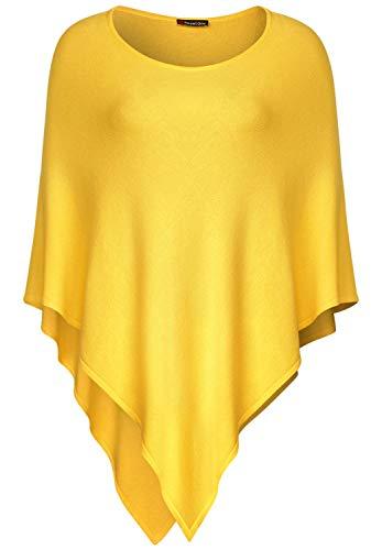 Street One Damen 580442 Feinstrick Poncho, Gelb (Creamy Lemon 11848), One Size (Herstellergröße:A)