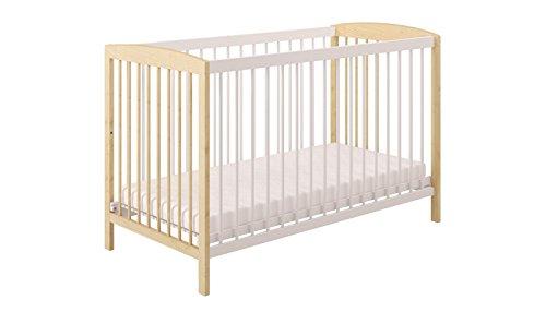 Polini Kids Gitterbett Kinderbett weiß natur Holz 2-fach höhenverstellbar