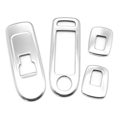 WeiYang Protección De La Ventana De La Ventana Protección contra Cromo Tapa De Ajuste De La Tira para Peugeot 508 Citroen C5 Accesorios (Color Name : Silver)