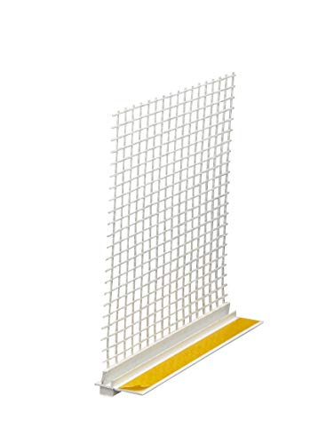 5 x Anputzleiste mit Gewebe 6 mm 240 cm = 12 m APU Anputzleiste 6 mm Putzleiste Einputzleiste Fensterprofil Fensterleiste Anputzleiste 6mm mit Gewebe je 2,4m PVC Putz Laibungsprofil Armierungsgewebe