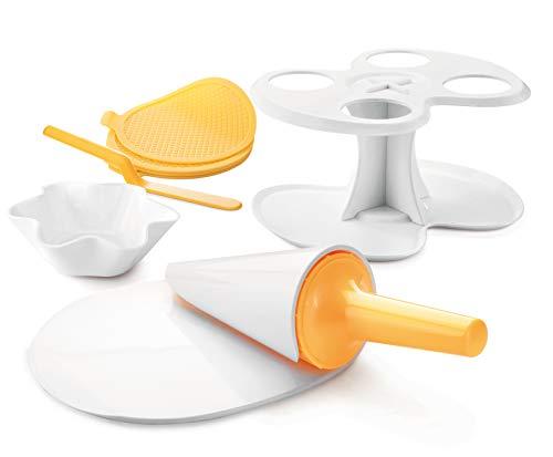Tescoma 643184 Della Casa Kit Forma Cono E Cialda per Gelato, Plastica, Multicolre