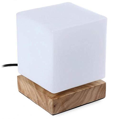 Nicedier Llevó la luz de la Noche Moderna Minimalista de Madera LED lámpara de Mesa lámpara Creativa Cuarteto Lactancia Materna Luz de la Noche