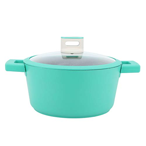 Olla de cocina, revestimiento de contacto de grado alimenticio, calefacción uniforme antiadherente, olla de sopa de aleación de aluminio de 24 cm, para el hogar del restaurante