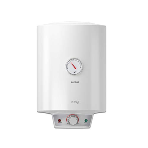 Havells Monza EC 15-Litre Storage Water Heater with Flexi Pipe (White)