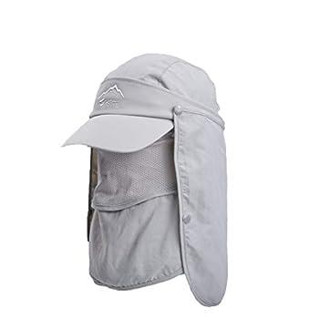 Super Wide Brim Sun Hat-UPF50+ Waterproof Bucket Hat for Fishing Hiking Camping  A1-Light Grey