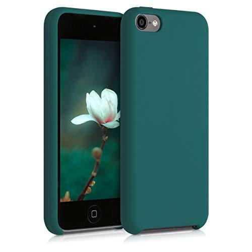 kwmobile Back-Cover Compatibile con Apple iPod Touch 6G / 7G (6a e 7a Generazione) Soft-Case gommata in Morbido Silicone TPU - Verde Bottiglia