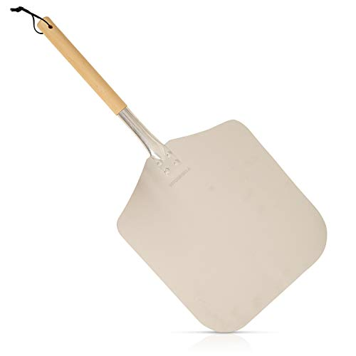 Premium Quality Pizza Paddle Peel with Removable Handle Aluminium Non Stick...