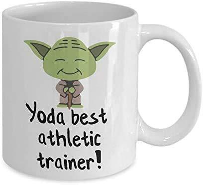 N\A Tazas de cerámica Entrenador atlético #Yoda Best Star Movie #Wars Action Scifi Film Rey Kylo-REN Finn Han-Solo Leia-Organa Tazas de café de Regalo Divertidas 11 oz