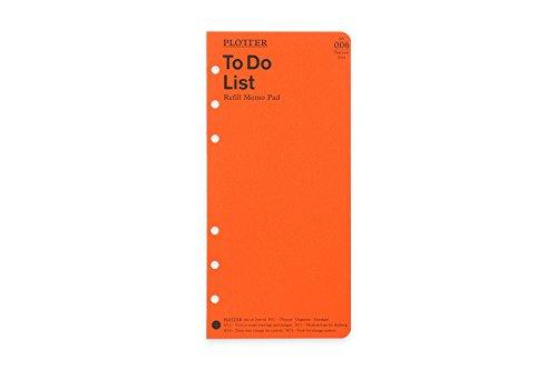 ナローサイズ PLOTTER/プロッター ToDoリスト メモパッド システム手帳リフィル 7771