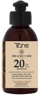 Tahe Emulsión Tratante Organic Care   Emulsión Oxigenada para la Mezcla de Coloración Capilar, Para Cobertura de Canas Normal. Ingredientes ...