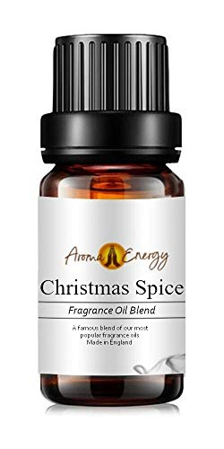 Christmas Spice Fragrance Oil, 10ml (Ideal for Aromatherapy, Oil Burner, Diffuser, Home Made Making, Potpourri, Candle, Soap, Slime, Bath Bomb, Air Freshener)