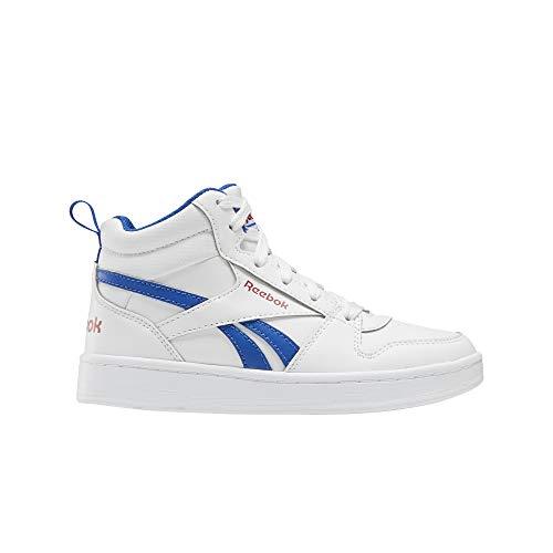 Reebok Royal Prime Mid 2.0, Zapatillas de Running para Niños, Blanco/VECBLU/VECRED, 34 EU