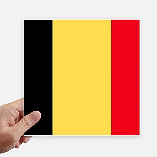 DIYthinker Drapeau National Belgique Europe Country Square Autocollants 20CM Mur Valise pour Ordinateur Portable Motobike Decal 4Pcs 20Cm X 20Cm Multicolor