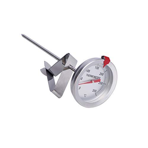 DOITOOL Termómetro para freír con clip Termómetro de cocción de carne de lectura instantánea Termómetro de acero inoxidable con vástago para pavo barbacoa parrilla (longitud de sonda de 15 cm)