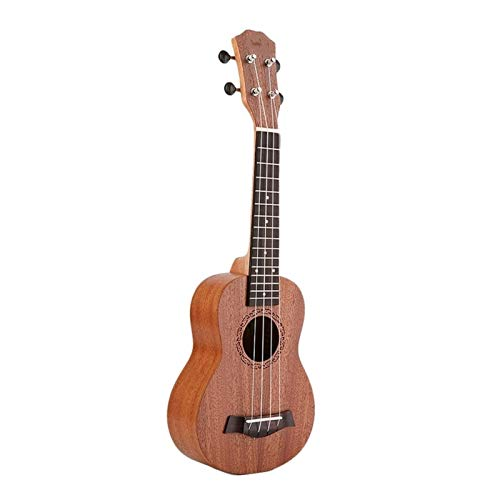 RJDJG 21 Pulgadas Ukulele Soprano Principiante Ukulele Guitarra Ukulele Cuello Delicado Tuning Peg 4 Cuerdas Madera Ukulele Q12.15