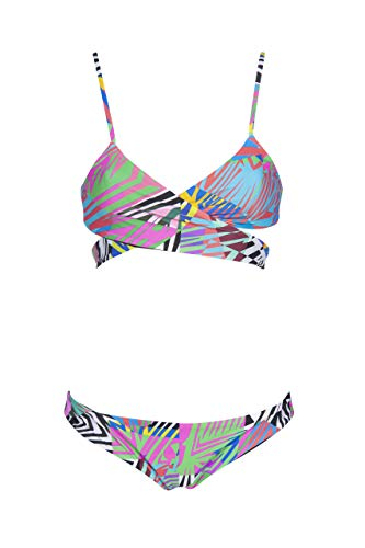 ARENA Damen Bikini Triangel Wendbarer Allover, ash Grey Multi-Black, 42, 003062