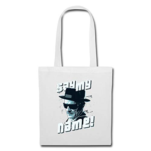 Spreadshirt Breaking Bad Say My Name Tote Bag, white