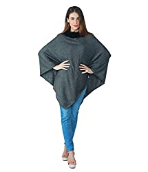 SOFIAS Womens/Girls High Quality 100% Pure Cashmere Designer Poncho with Faux Fur Collar