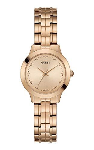 Guess Reloj Analógico para Mujer de Cuarzo con Correa en Acero Inoxidable W0989L3