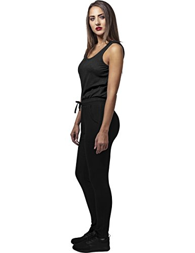 Urban Classics Damen Jumpsuit Ladies Melange, Schwarz Black 825 - 5