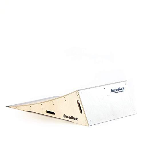 ShredBox Launch Ramp | NEUES Modell 2021 | Ramp Building Kit | Skatepark Qualität | Launch Ramp | SkateRamp | Jumpramp | Schanze | Für Skateboard, BMX, Scooter | Dein privater Skatepark