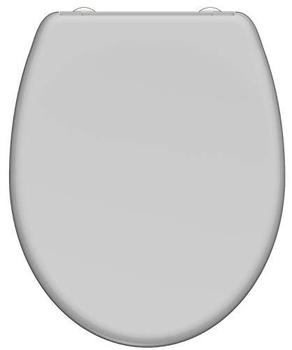 SCHÜTTE GREY WC-Sitz Duroplast, Toilettensitz mit Absenkautomatik und Schnellverschluss für die einfache Reinigung, maximale Belastung der Klobrille 150 kg, 82302
