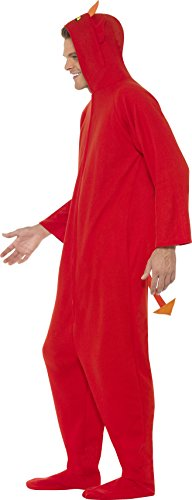Smiffys - Costume Di Travestimento A Tuta Da Diavolo, Misura Unica, Per Adulti