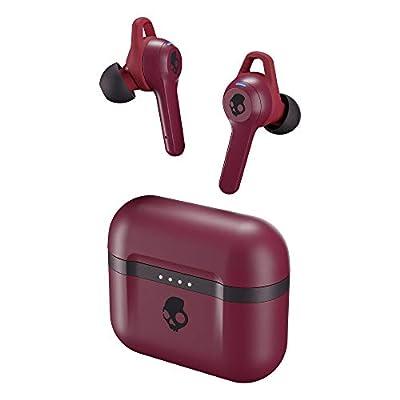 Auriculares Inalámbricos In-Ear Skullcandy Indy EVO True Wireless, con Bluetooth Incorporado, Resistencia al Sudor, el Agua y al Polvo IP55, Batería de hasta 30 Horas de Duración Total - Rojo Oscuro