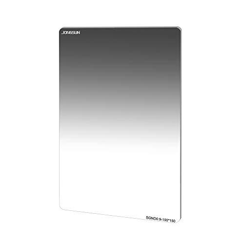 JONGSUN 100x150mm ND Filter, Grauer Soft Verlaufsfilter Neutraldichtefilter, Quadratische Rechteckfilter SGND8 (0.9) 3-Stop, 18-Schicht Nano-Mehrfachvergütung, Schott B270 Optikglas