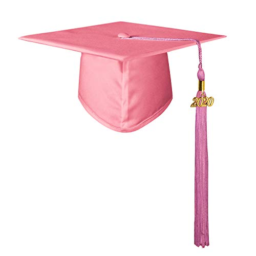 GraduationMall Erwachsene Studium Doktorhut mit Quaste für High School & Bachelor Rosa