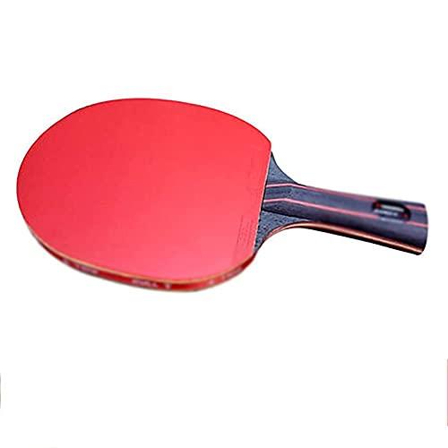 JIANGCJ bajo Precio. Raqueta de Tenis de Mesa: Paleta de Ping Pong Profesional con Estuche de Transporte - Caucho Aprobado por ITTF for el Juego de torneos, Familia Ping Pong Racket-A