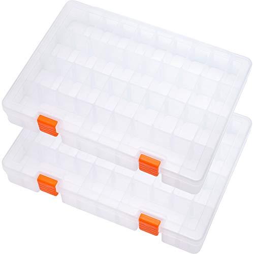 SOMELINE Kunststoff Aufbewahrungsbox Sortimentsboxen für Kleinteile Perlen Ohrringe Schmuckkasten Einstellbar Sortierbox 2 Stück