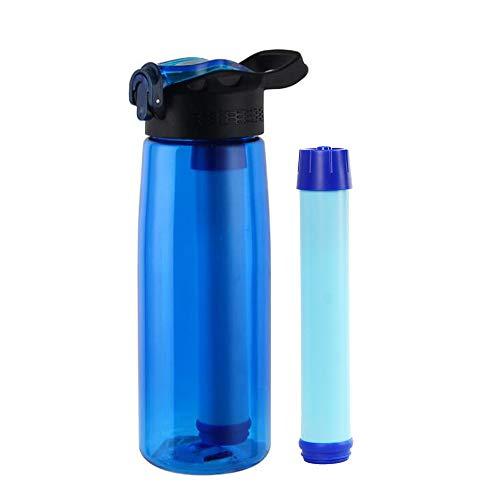 Sywin Draagbare waterfles, 650 ml, voor op reis, Tritan-materiaal, BPA-vrij en filtert 99,9% van de door water overgebrachte ziekteverwekkers, max. 1500 liter waterzuivering.