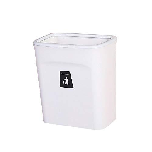 LOKIH Opknoping opvouwbare vuilnisbak, gebruikt voor keuken en badkamer kast deur, opknoping vuilnis kan muur gemonteerd vuilnisbak, gebruikt voor badkamer vuilnis opslag droge en natte scheiding klein en licht