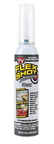 Flex Shot - Thick Rubber Adhesive Sealant (Jumbo, Clear) 8oz