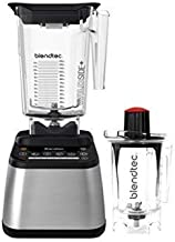 Blendtec Designer 725 WildSide (90 oz) (37 oz) Bundle Countertop Blender, 100-Speeds, Sleek and Slim, Stainless Black + Twister Jar