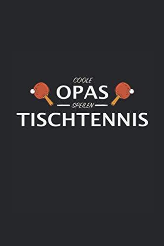 coole Opas spielen Tischtennis: Punktraster Notizbuch (6x9 Zoll) mit 120 Seiten