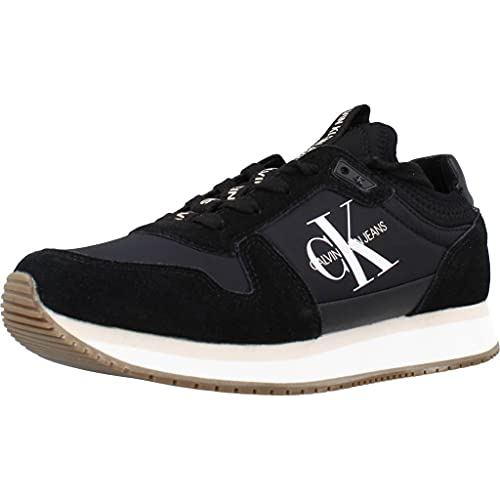 Calvin Klein Jeans Runner Lace Up Sock Womens Black Trainers-UK 5 / EU 38